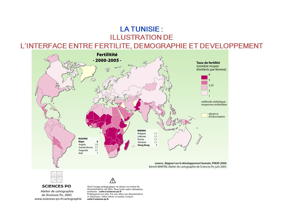LA TUNISIE : ILLUSTRATION DE L'INTERFACE ENTRE FERTILITE, DEMOGRAPHIE ET DEVELOPPEMENT DURABLE