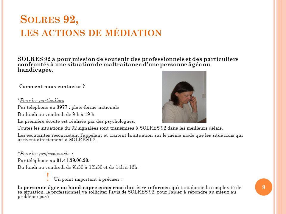 Solres 92, les actions de médiation