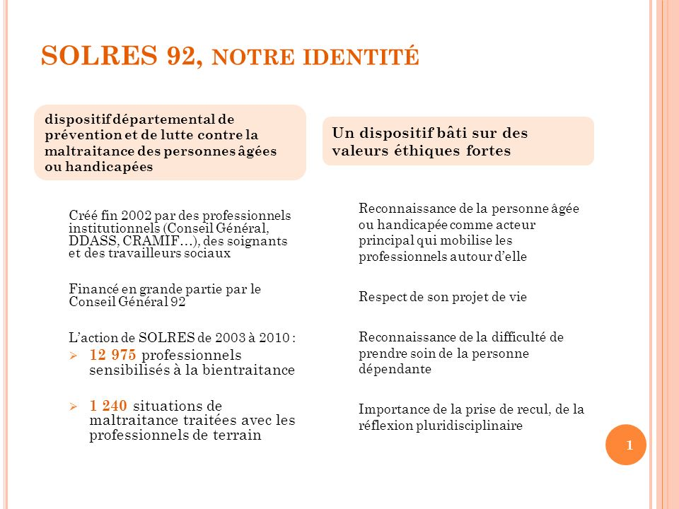 SOLRES 92, notre identité Association gestionnaire du.