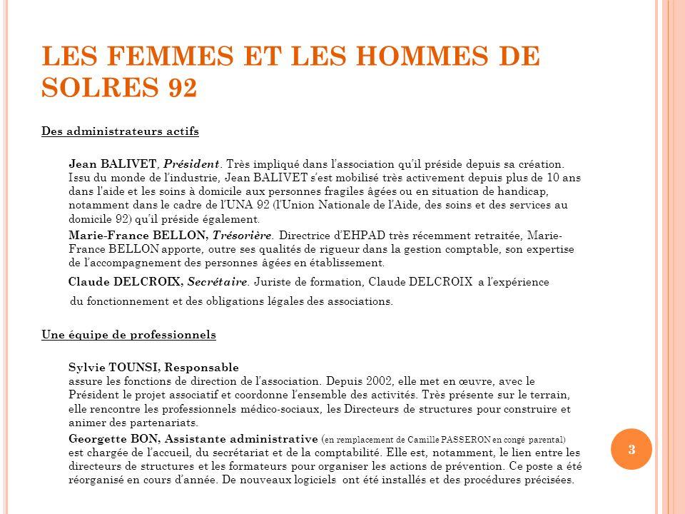 LES FEMMES ET LES HOMMES DE SOLRES 92