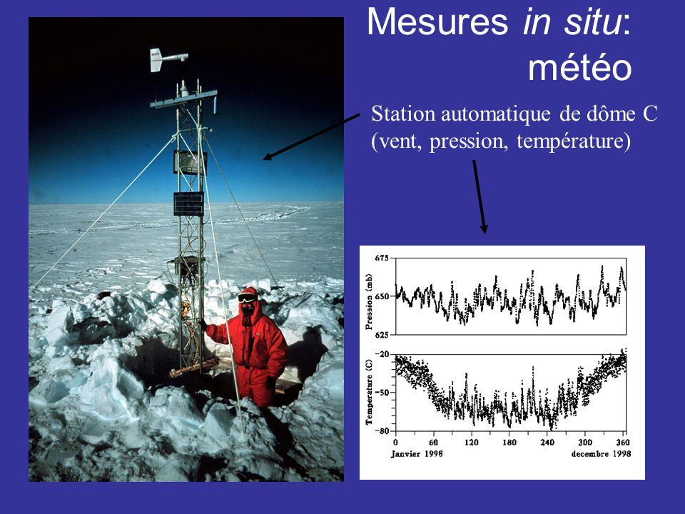 Mesures in situ: météo Station automatique de dôme C