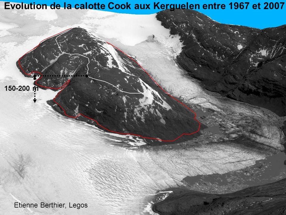 Evolution de la calotte Cook aux Kerguelen entre 1967 et 2007