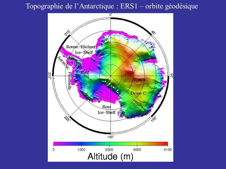 Topographie de l'Antarctique : ERS1 – orbite géodésique