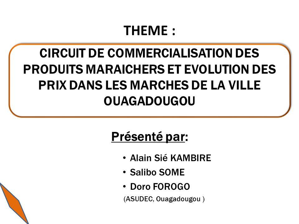 THEME : Présenté par: Alain Sié KAMBIRE. Salibo SOME. Doro FOROGO. (ASUDEC, Ouagadougou )