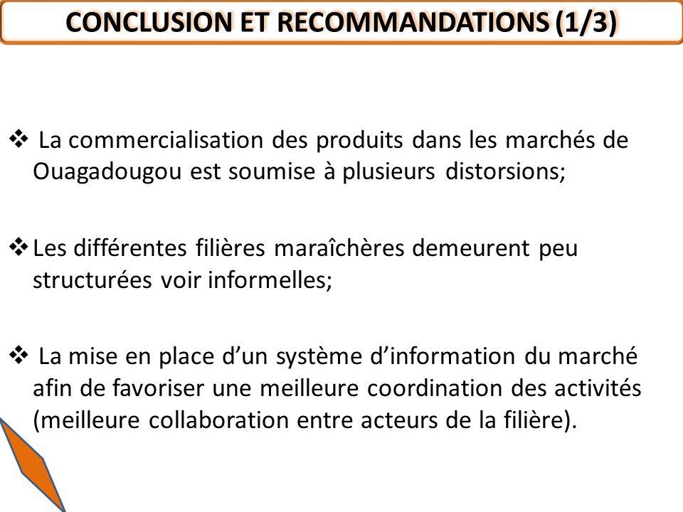 CONCLUSION ET RECOMMANDATIONS (1/3)