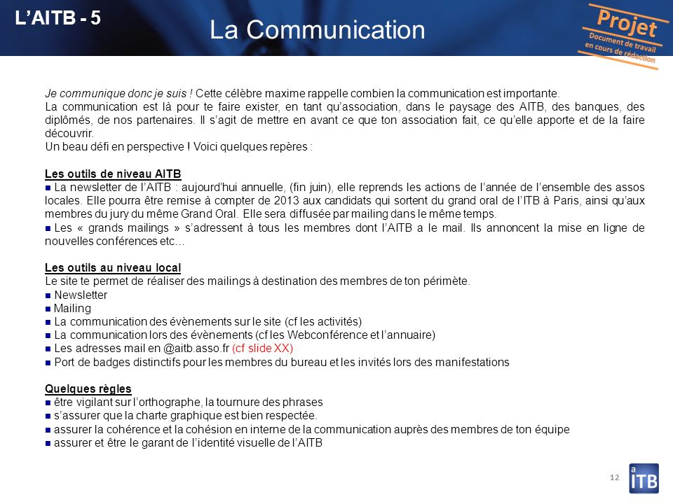 La Communication L'AITB - 5