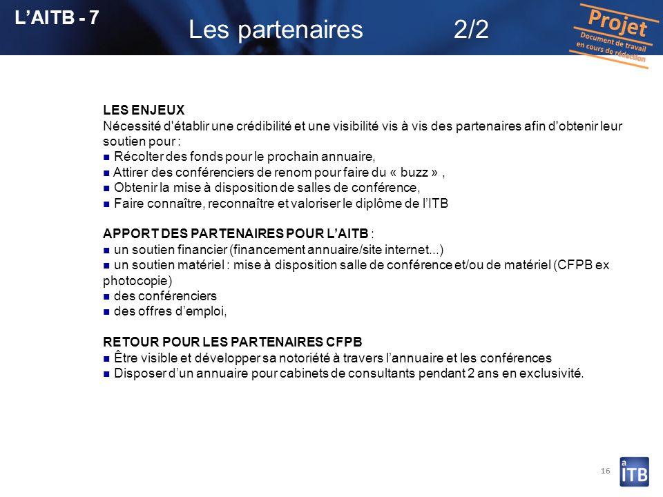 Les partenaires 2/2 L'AITB - 7 LES ENJEUX