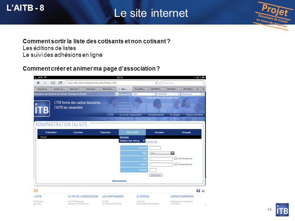 Le site internet L'AITB - 8