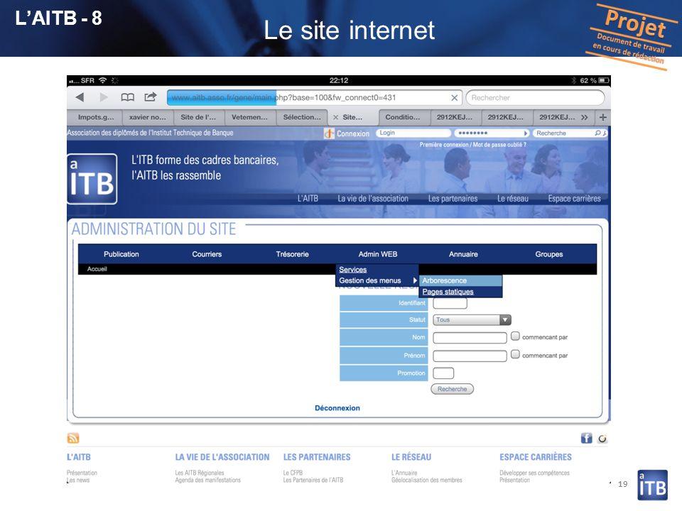 L'AITB - 8 Le site internet 19