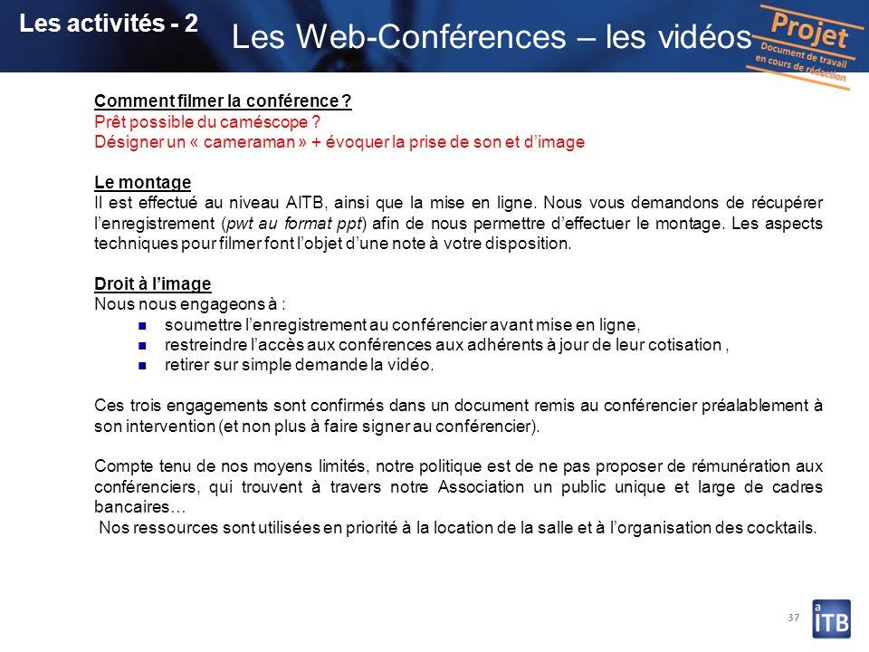 Les Web-Conférences – les vidéos