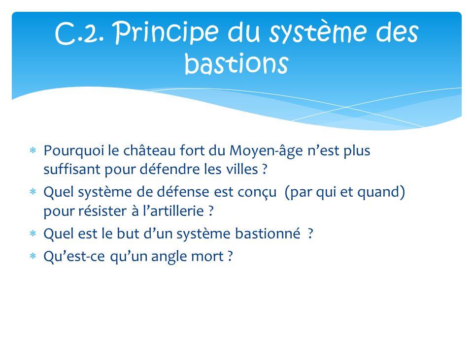 C.2. Principe du système des bastions