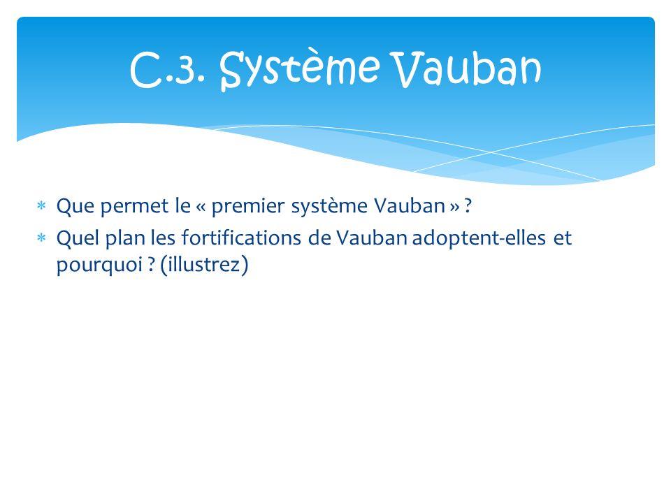 C.3. Système Vauban Que permet le « premier système Vauban »