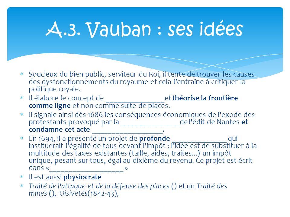 A.3. Vauban : ses idées