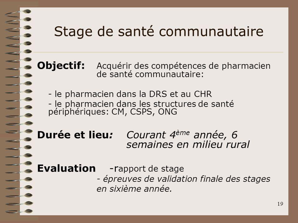 Stage de santé communautaire