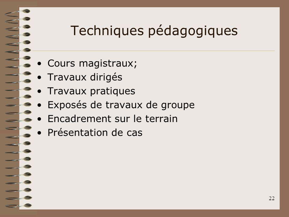 Techniques pédagogiques