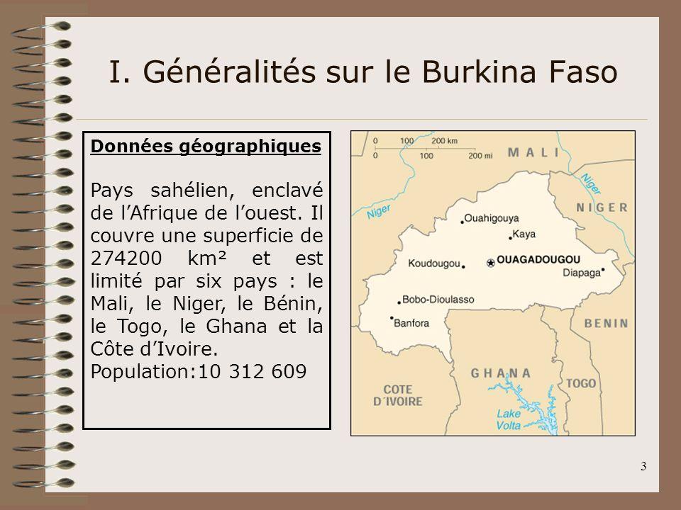 I. Généralités sur le Burkina Faso