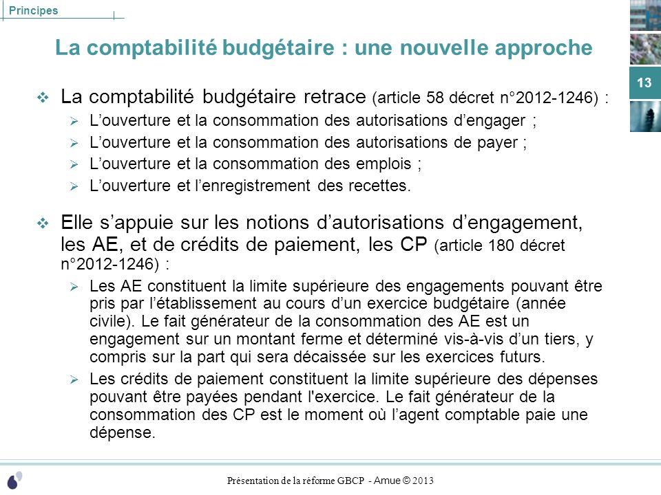 La comptabilité budgétaire : une nouvelle approche