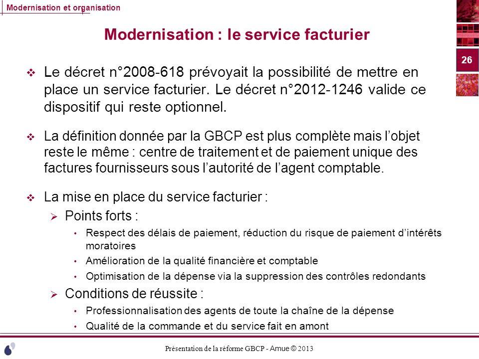 Modernisation : le service facturier