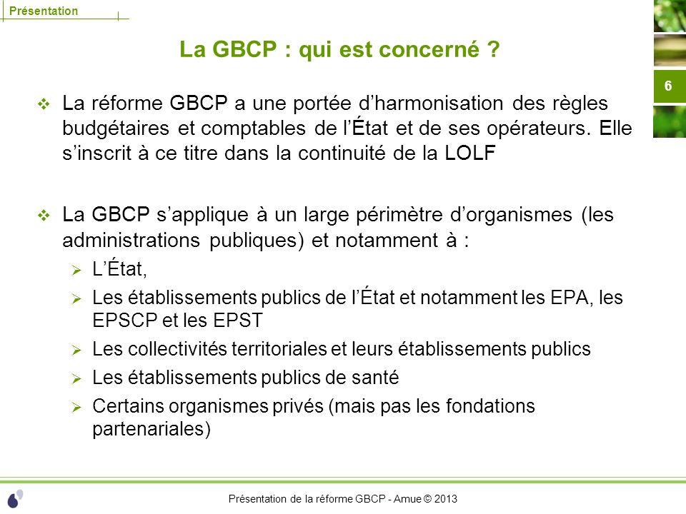 La GBCP : qui est concerné
