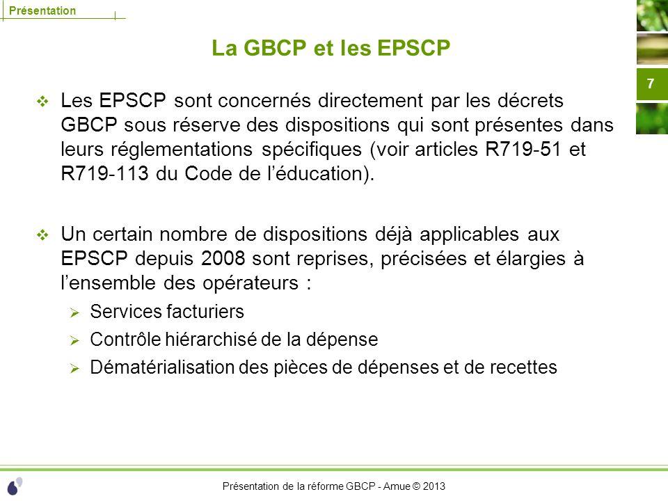 La GBCP et les EPSCP