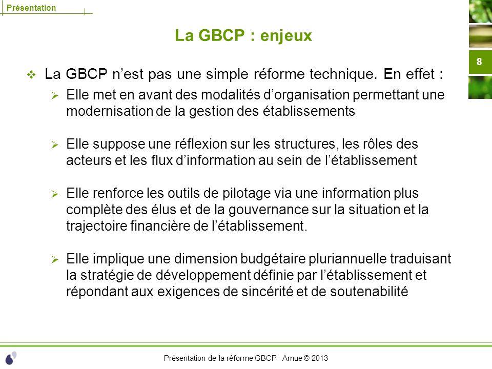 La GBCP : enjeux La GBCP n'est pas une simple réforme technique. En effet :