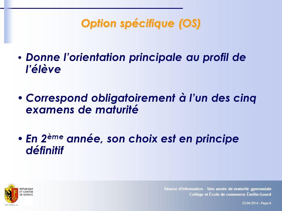 Option spécifique (OS)