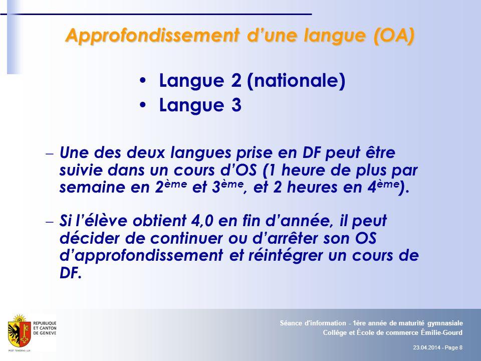 Approfondissement d'une langue (OA)