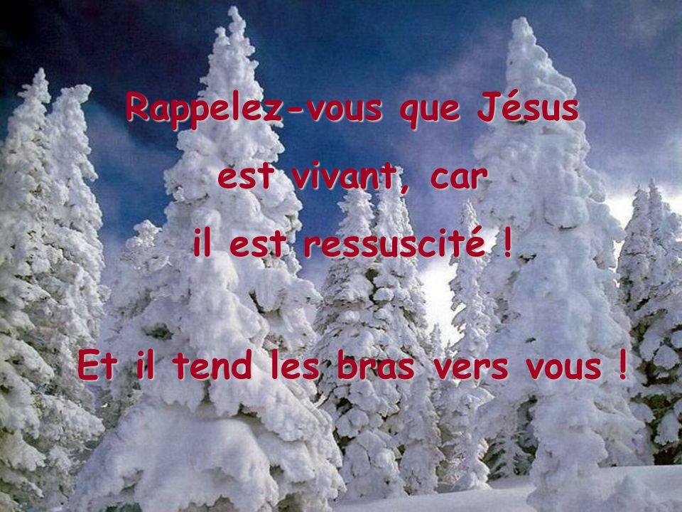 Rappelez-vous que Jésus Et il tend les bras vers vous !