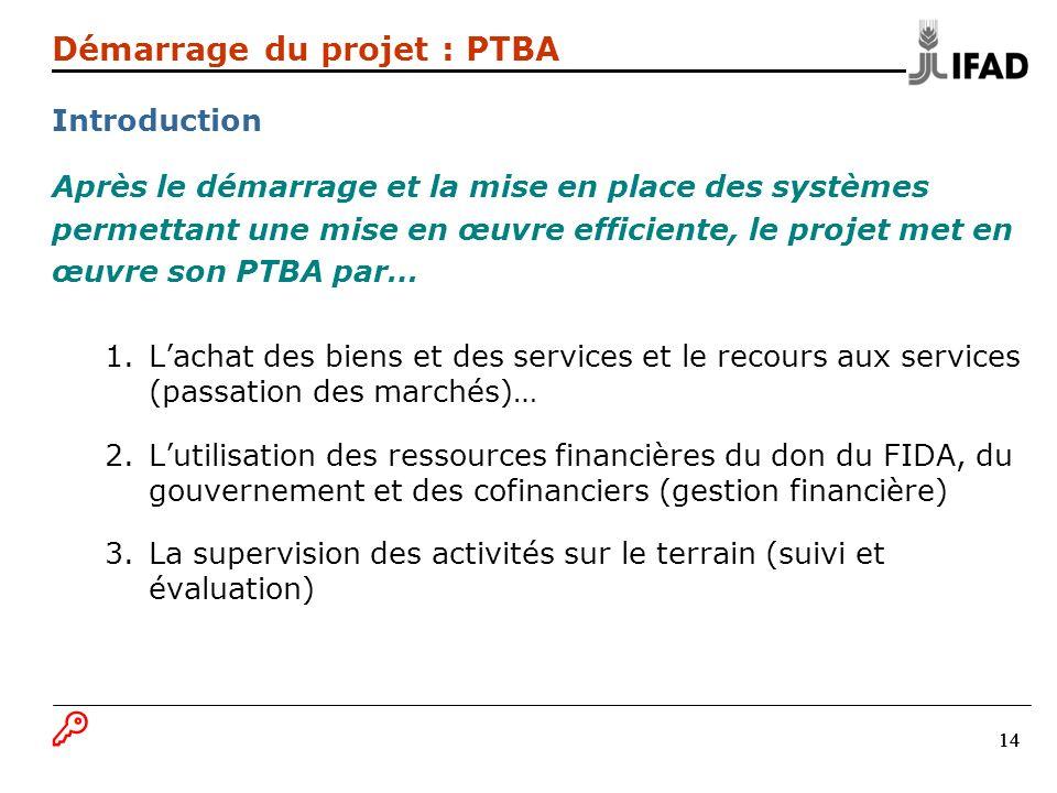 Démarrage du projet : PTBA Introduction