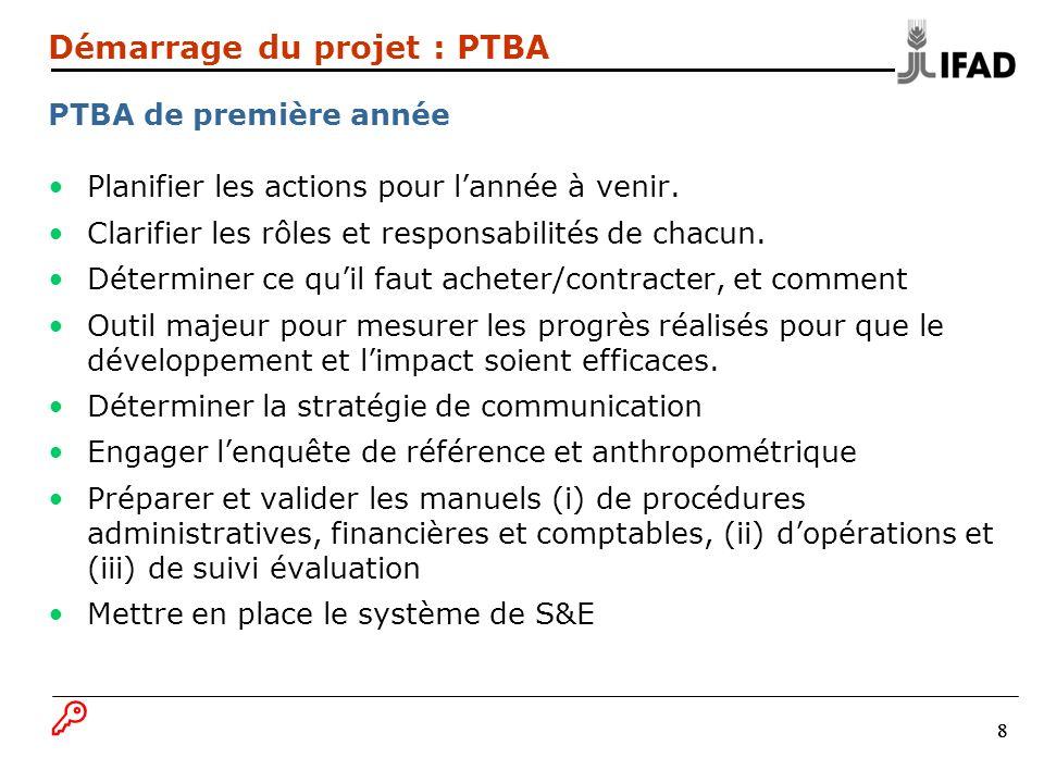 Démarrage du projet : PTBA PTBA de première année