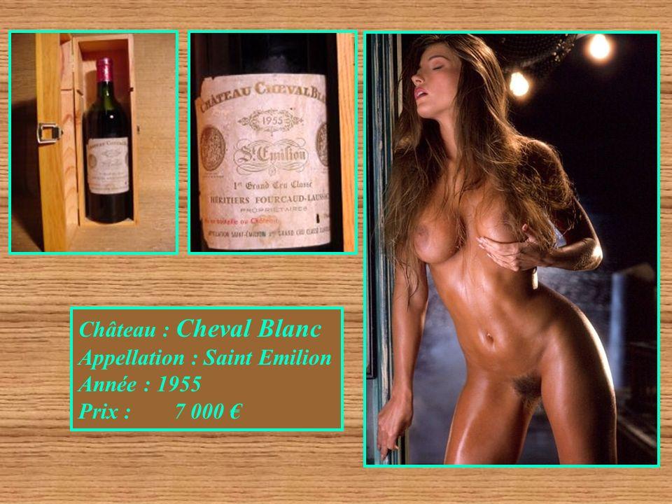 Château : Cheval Blanc Appellation : Saint Emilion Année : 1955 Prix : 7 000 €