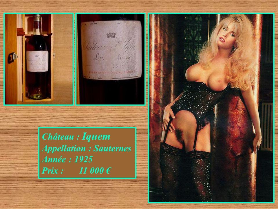 Château : Iquem Appellation : Sauternes Année : 1925 Prix : 11 000 €