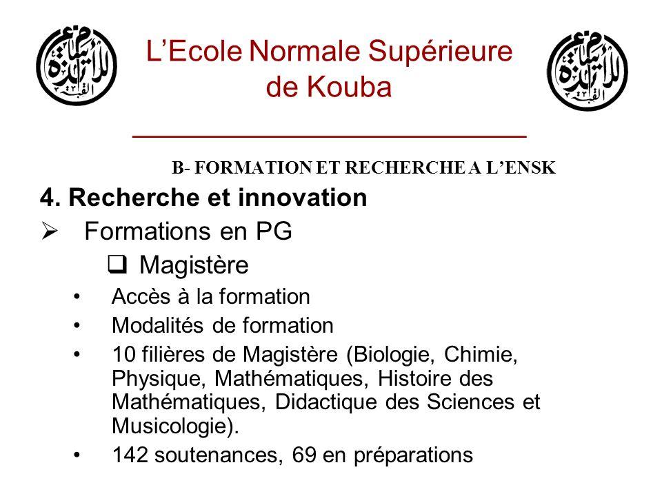 L'Ecole Normale Supérieure de Kouba ________________________