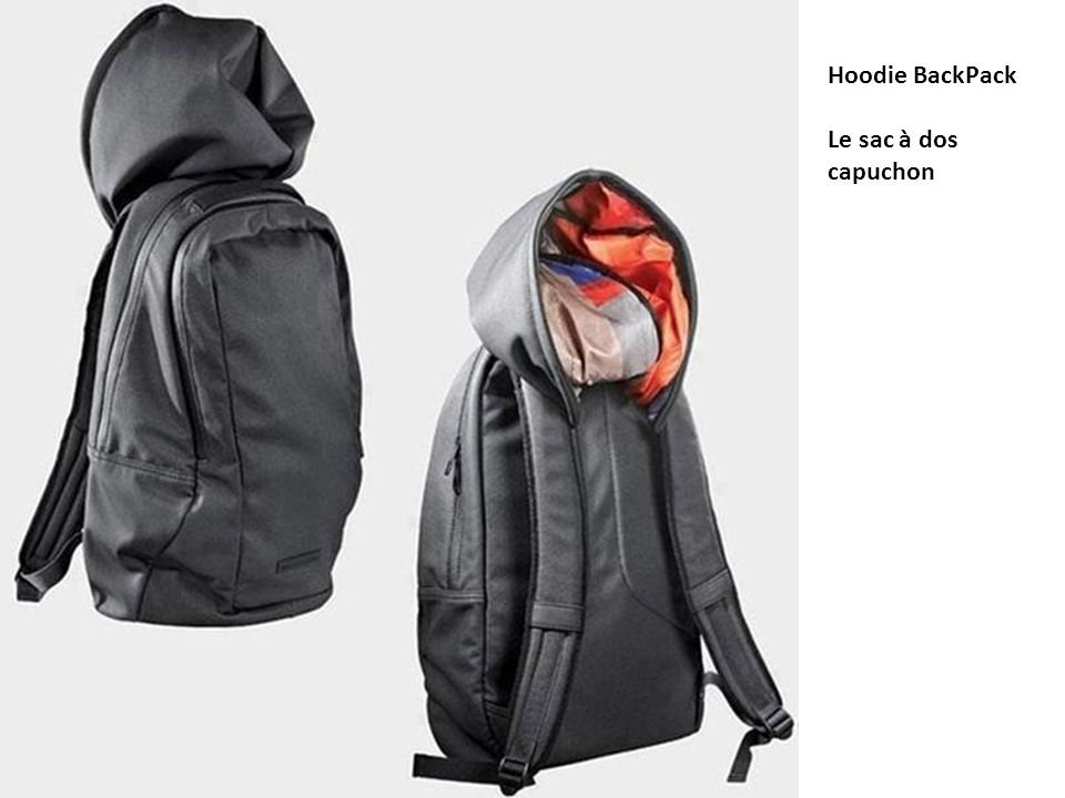 Hoodie BackPack Le sac à dos capuchon