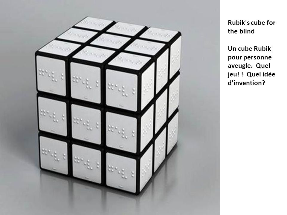 Rubik s cube for the blind