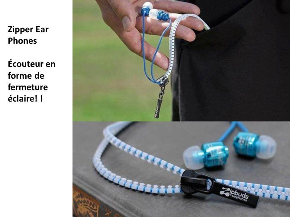Zipper Ear Phones Écouteur en forme de fermeture éclaire! !