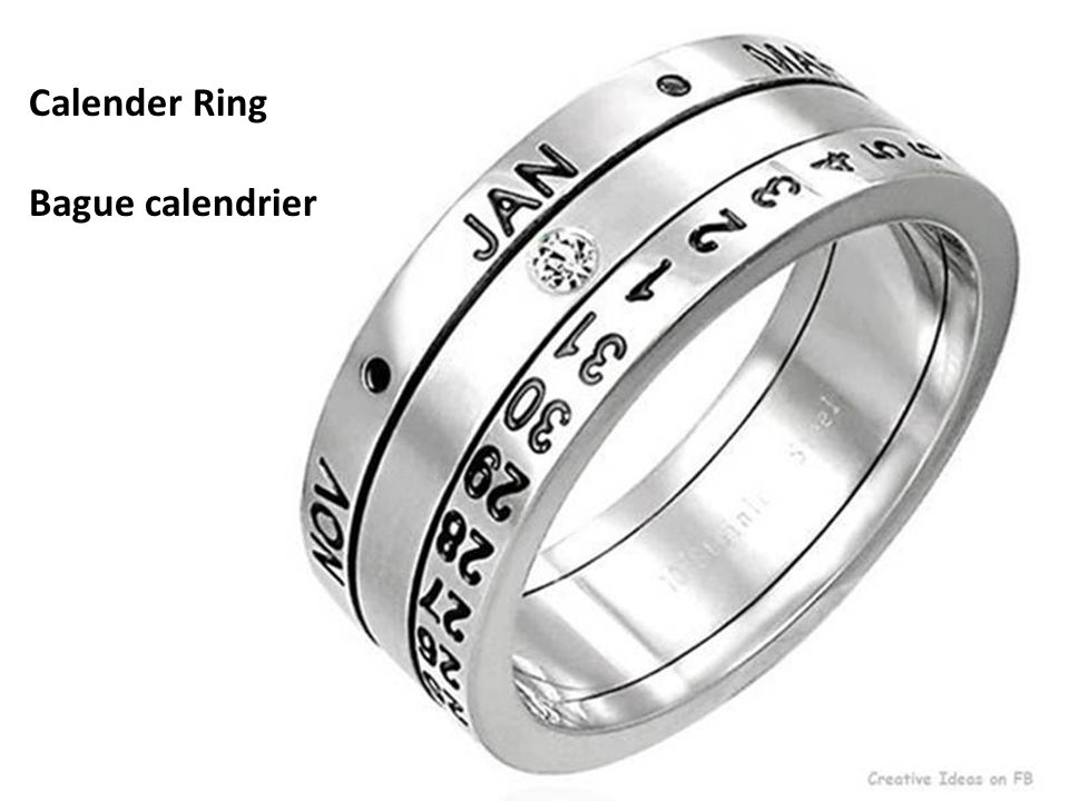 Calender Ring Bague calendrier