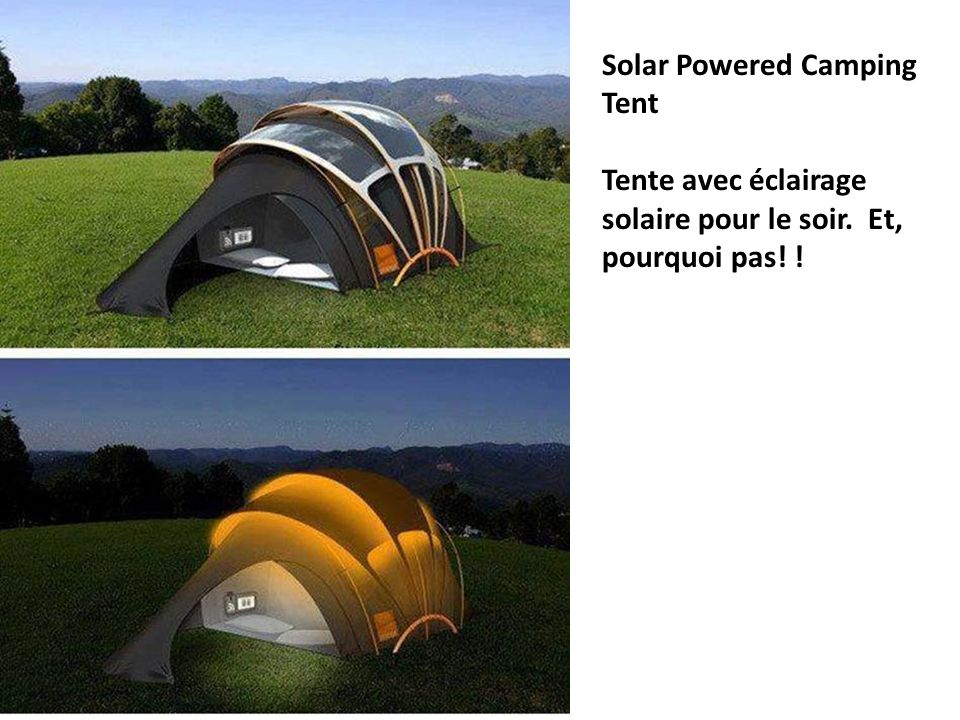 Solar Powered Camping Tent