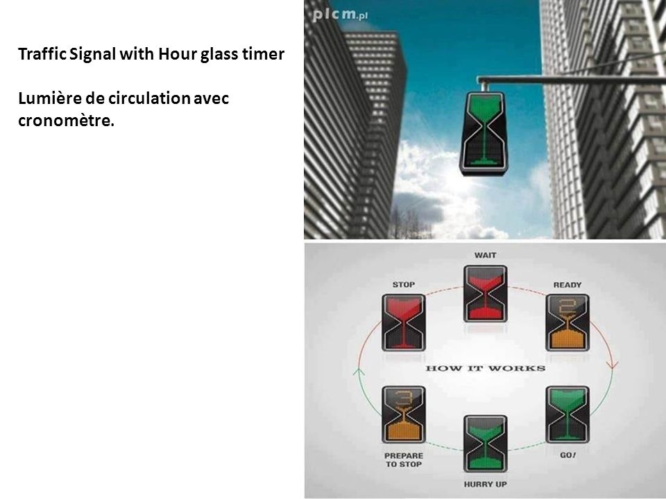 Traffic Signal with Hour glass timer