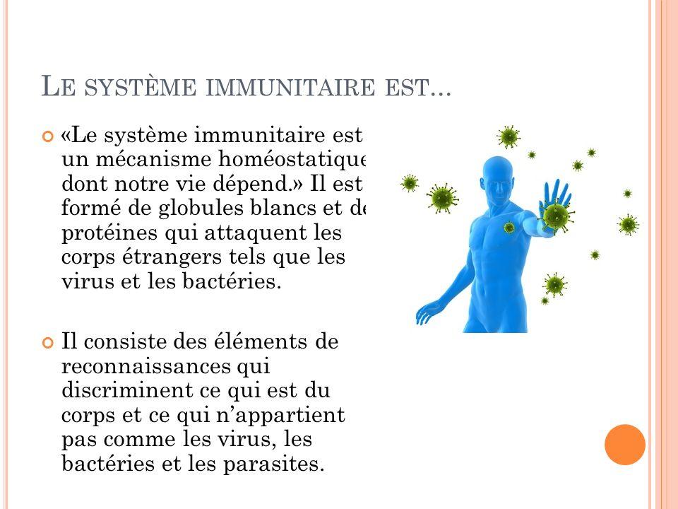 Le système immunitaire est...