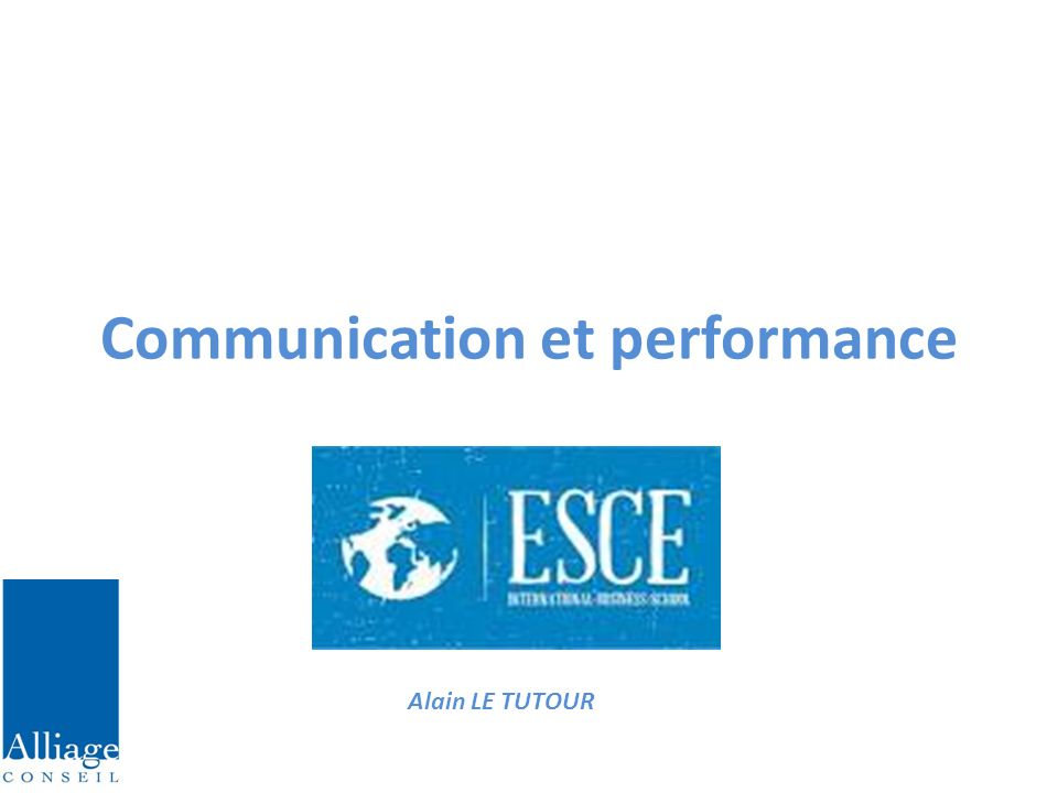 Communication et performance
