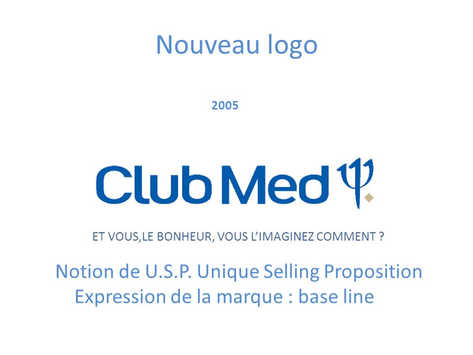 Nouveau logo Notion de U.S.P. Unique Selling Proposition