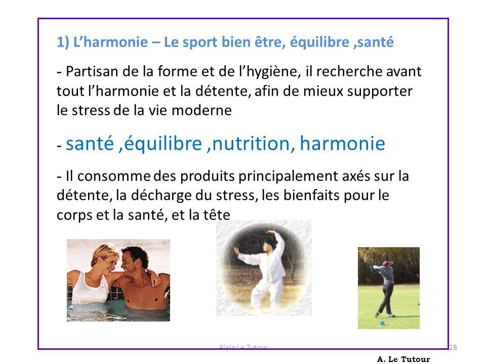 1) L'harmonie – Le sport bien être, équilibre ,santé