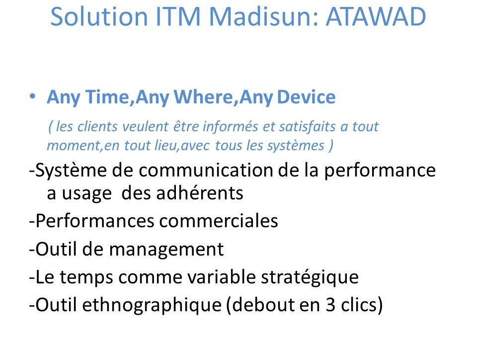 Solution ITM Madisun: ATAWAD