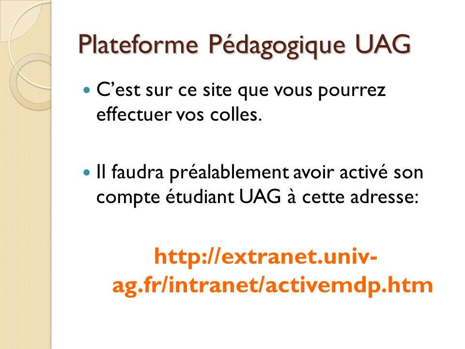 Plateforme Pédagogique UAG
