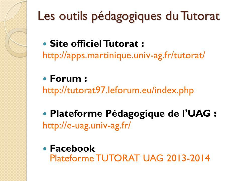 Les outils pédagogiques du Tutorat