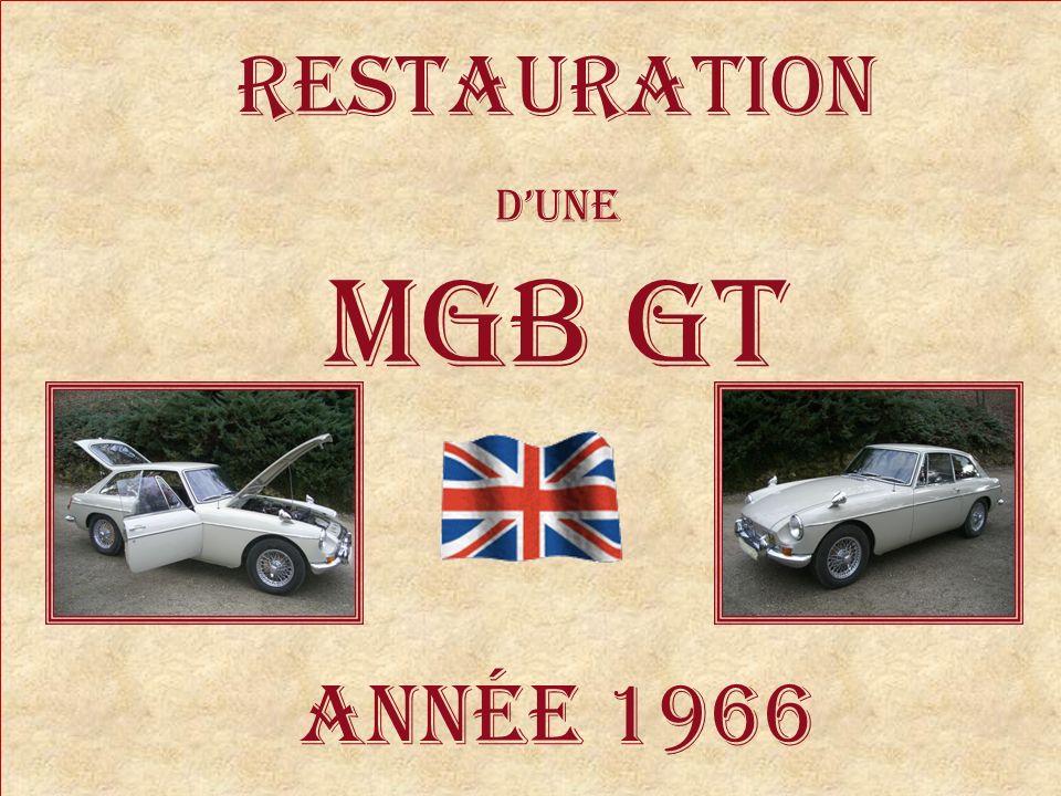 RESTAURATION d'une MGB GT Année 1966