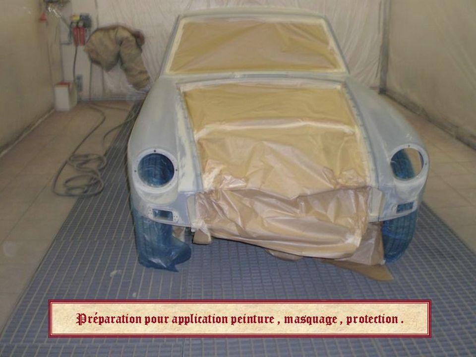 Préparation pour application peinture , masquage , protection .