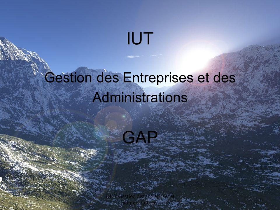 IUT Gestion des Entreprises et des Administrations GAP