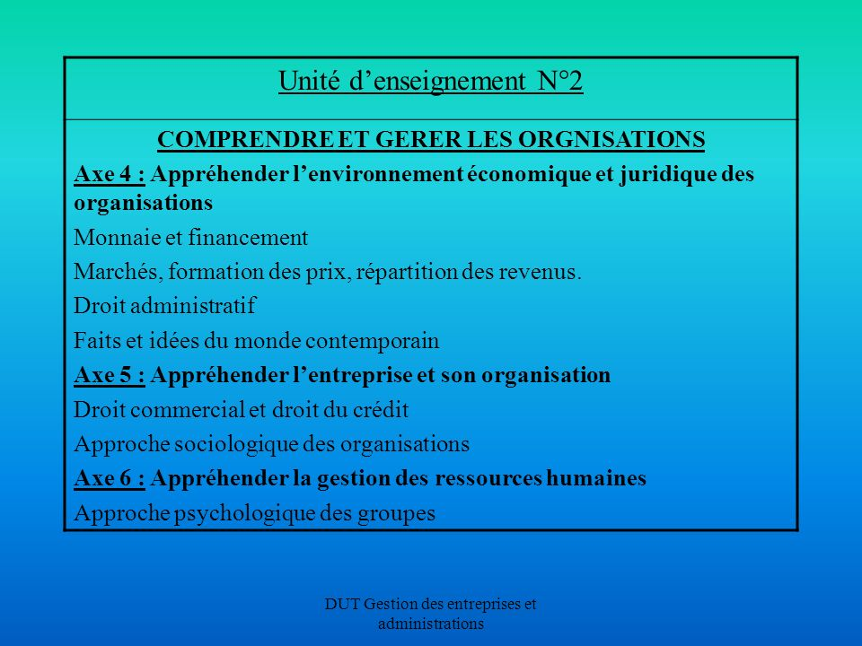 COMPRENDRE ET GERER LES ORGNISATIONS